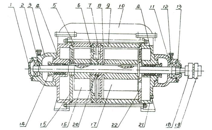 2SK水环真空泵的结构说明