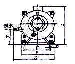 2SK-0.4、2SK-0.8两级不环真空泵外形及安装尺寸