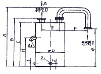 2SK-6P1、2SK-12P1、2SK-20P1、2SK-30P1配气水分离器外形及安装尺寸